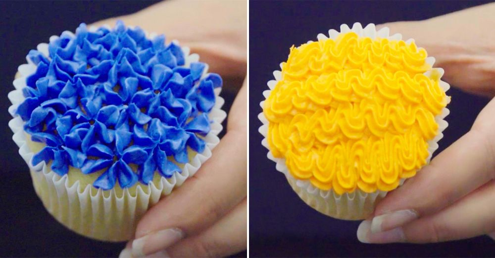 How to Pipe Frosting on Cupcakes - Frosting Design Ideas with Piping ...