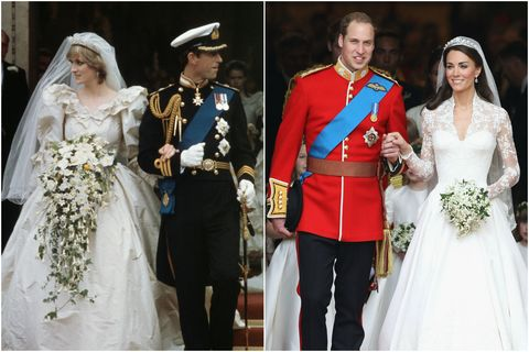 princess diana kate middleton wedding
