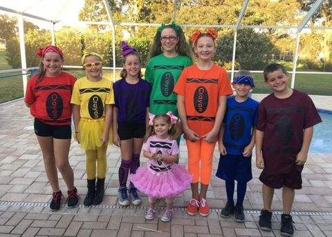 box of crayons group halloween costumes