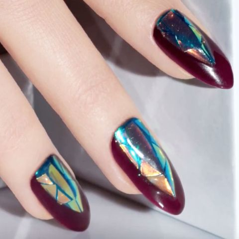 Dark Crystal Fall Nail Art