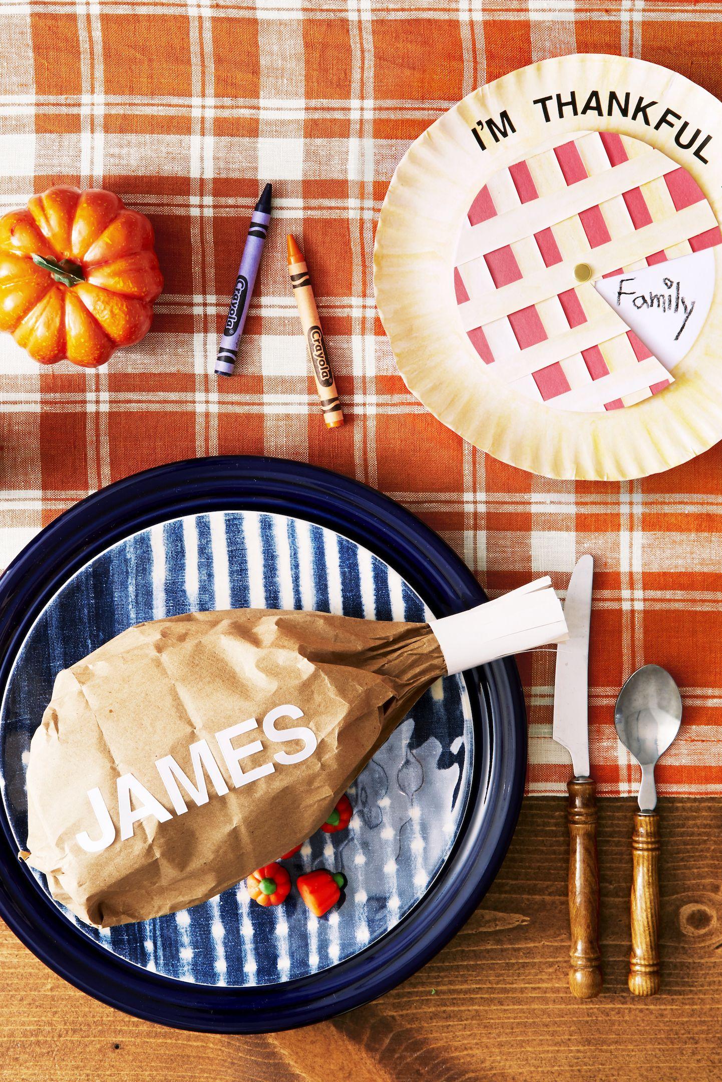 thanksgiving kids table craft