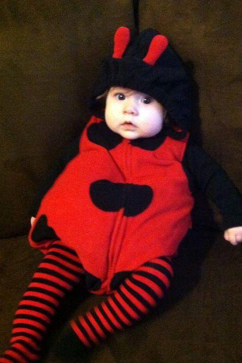 baby halloween costume ladybug