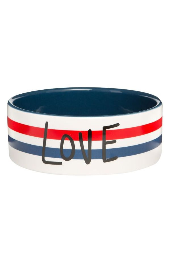 ed ellen degeneres love ceramic dog bowl