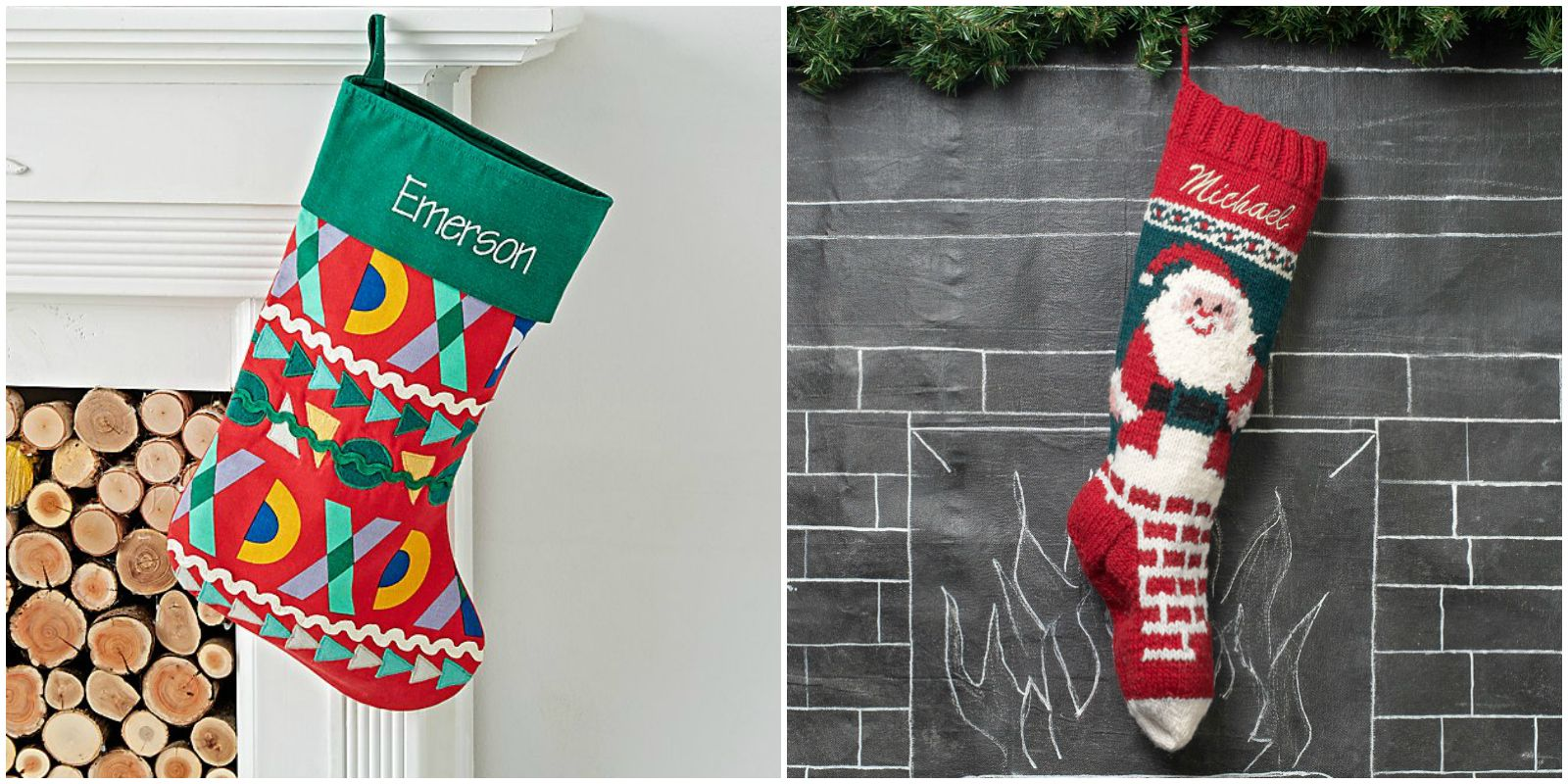 20 Personalized Christmas Stockings - Embroidered and Monogrammed ...