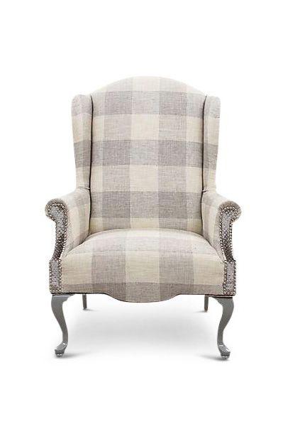 Chair, Furniture, Beige, Club chair, Outdoor furniture, Tartan,