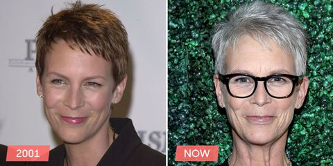 "<p> 	She might have <a href=""http://www.goodhousekeeping.com/beauty/hair/tips/a16987/amazing-gray-hair/"">embraced gray hair</a> in her 50s, but almost every strand of her pixie cut is in the exact same place as it was when she was 42. </p>"