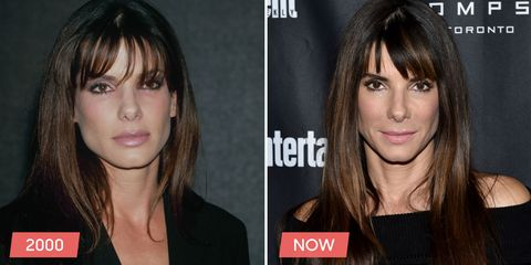 "<p> 	<a href=""http://www.goodhousekeeping.com/life/entertainment/g4506/repeat-onscreen-couples"">Sandra Bullock</a> has been falling back on long, straight hair with piecey bangs since her <i data-redactor-tag=""i"">Miss Congeniality </i>days. Even her highlights look the same!</p>"