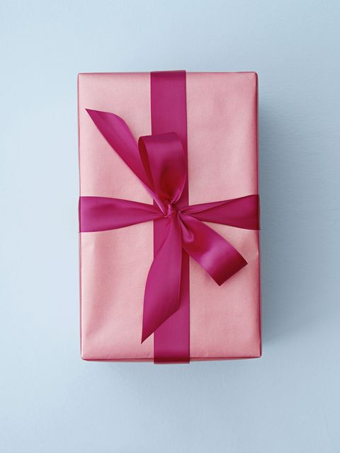Pink, Ribbon, Present, Gift wrapping, Wedding favors, Magenta, Material property, Paper, Rectangle, Paper product,