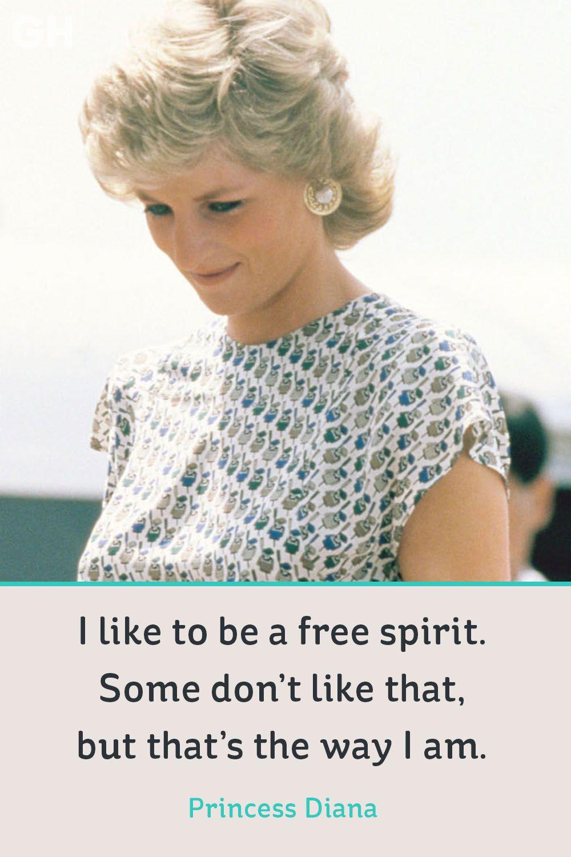 princess diana quote free spirit