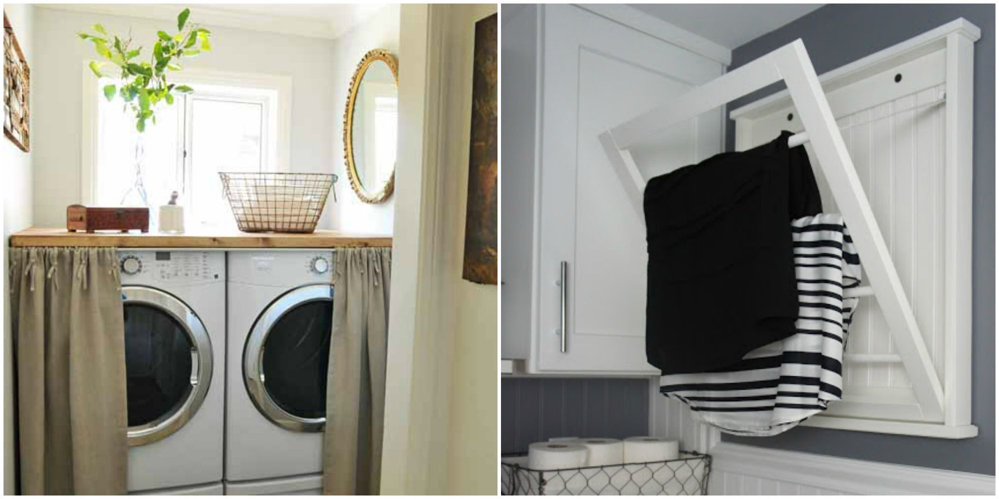 17 Small Laundry Room Organization Ideas - Storage Tips for