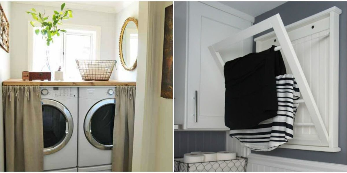 10 Small Laundry Room Organization Ideas - Storage Tips for Laundry Closets