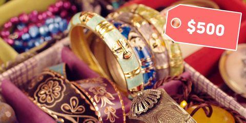Bangle, Fashion accessory, Footwear, Jewellery, Magenta, Gold, Shoe, Metal, Selling,
