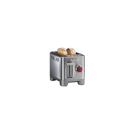 WOLF Gourmet WGTR102S High Performance 2-Slice Toaster Red Knob
