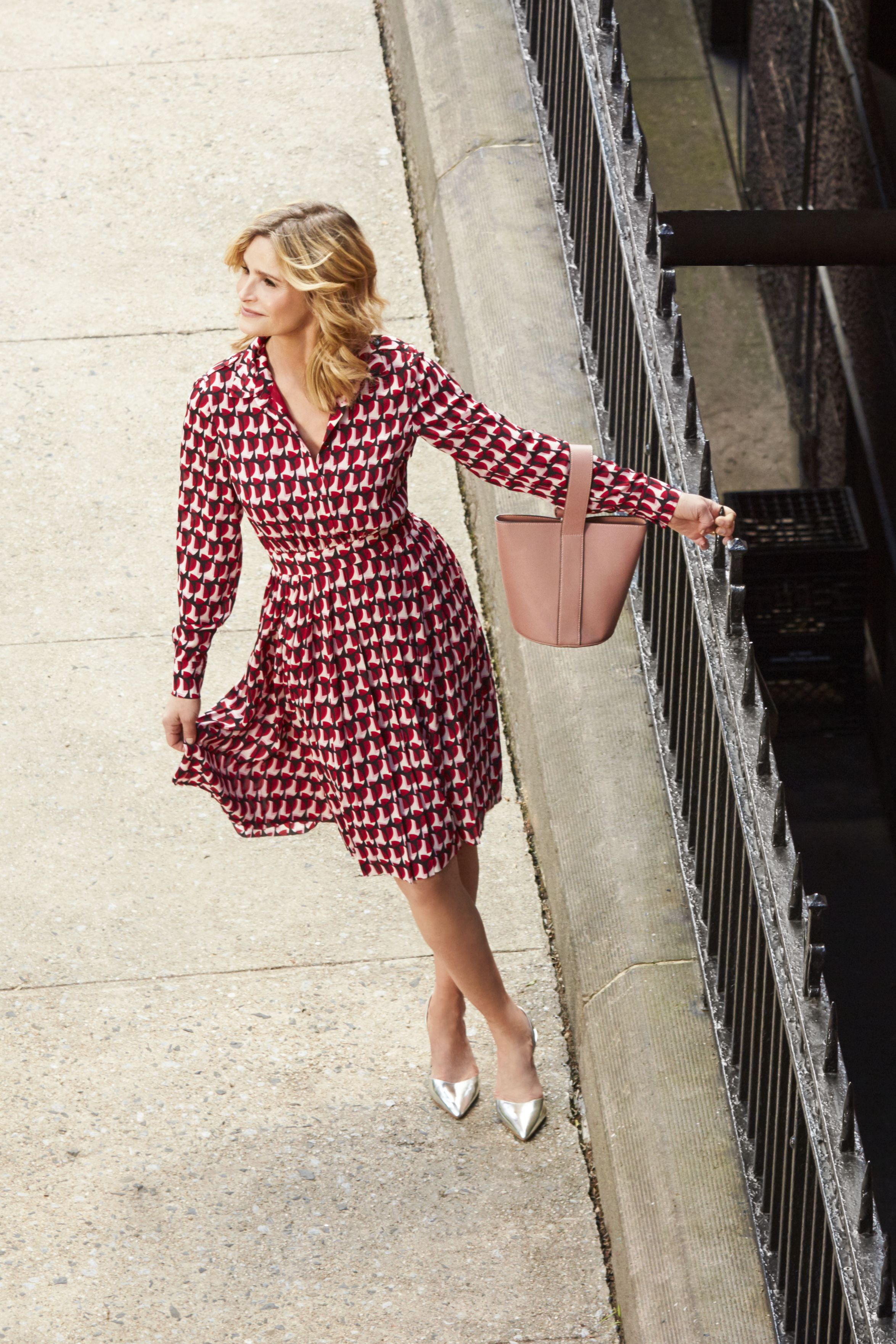 """<p>An easy breezy one in a&nbsp&#x3B;<span>bold pattern equals a showstopping&nbsp&#x3B;</span><span>outfit that requires&nbsp&#x3B;</span><span>zero (zilch, nada) thought.</span></p><p><span><em data-redactor-tag=""""em"""" data-verified=""""redactor""""><strong data-redactor-tag=""""strong"""" data-verified=""""redactor"""">Dress, </strong>$398, <a href=""""http://www.katespade.com"""" target=""""_blank"""" data-tracking-id=""""recirc-text-link"""">katespade.com</a>.<strong data-redactor-tag=""""strong"""" data-verified=""""redactor""""> Bag, </strong>$49, <a href=""""http://www.charleskeith.com"""" target=""""_blank"""" data-tracking-id=""""recirc-text-link"""">charleskeith.com</a>. <strong data-redactor-tag=""""strong"""" data-verified=""""redactor"""">Pumps,</strong> $98, <a href=""""http://vincecamuto.com"""" target=""""_blank"""" data-tracking-id=""""recirc-text-link"""">vincecamuto.com</a>.&nbsp&#x3B;</em></span></p><p><span><strong data-redactor-tag=""""strong"""" data-verified=""""redactor"""">TRAVEL TIP:&nbsp&#x3B;</strong></span><span>With its original&nbsp&#x3B;</span><span>Gothic architecture,&nbsp&#x3B;</span><span>private garden and&nbsp&#x3B;</span><span>eclectic rooms, the&nbsp&#x3B;</span><span><a href=""""http://www.thehighlinehotel.com"""" target=""""_blank"""" data-tracking-id=""""recirc-text-link"""">High Line Hotel</a> is as&nbsp&#x3B;</span><span>beautiful on the inside&nbsp&#x3B;</span><span>as it is on the outside.</span></p>"""