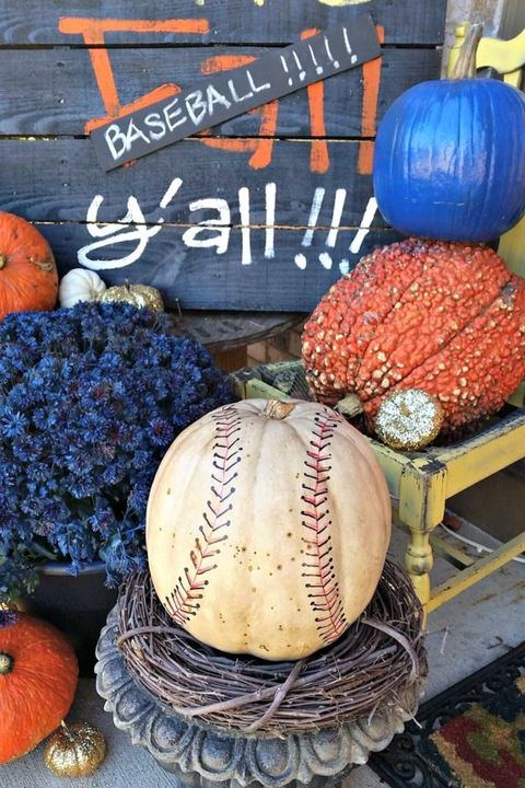 Baseball Pumpkin Painting Ideas