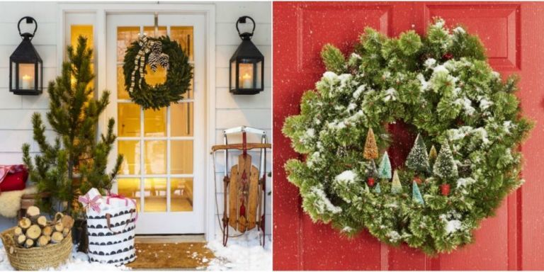 35 christmas door decorating ideas best decorations for your front door - Christmas Door Decorations