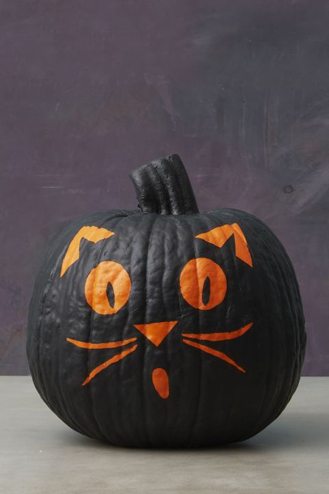 Black Cat Pumpkin Painting Ideas