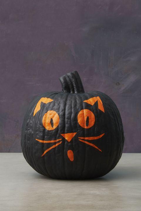 Black Cat Pumpkin Painting Ideas