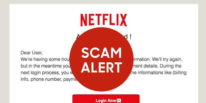 Netflix Email Scam Targets Users Banking Info Email Scam Targets Netflix Customers