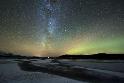 aurora borealis and orionids