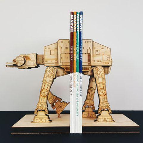 MokuShop Handmade AT-AT Wood Bookends Star Wars
