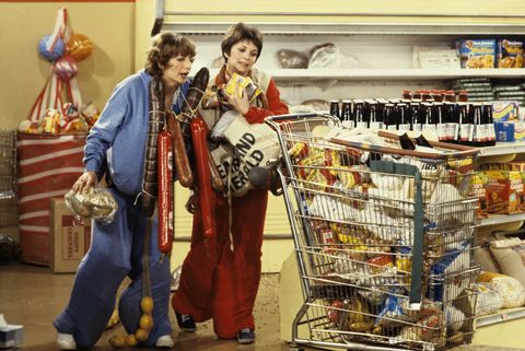 Laverne and Shirley on Supermarket Sweep