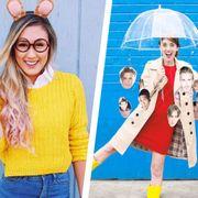 Clothing, Yellow, Jeans, Fashion, Outerwear, Street fashion, Denim, Sweater, Jacket, Peach,