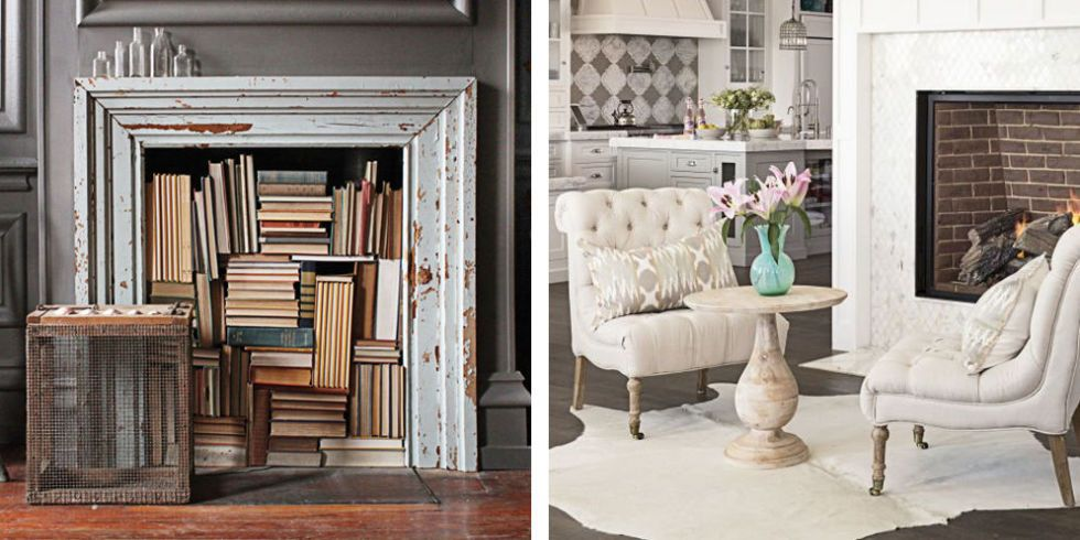 18 Ways To Dress Up Your Fireplace