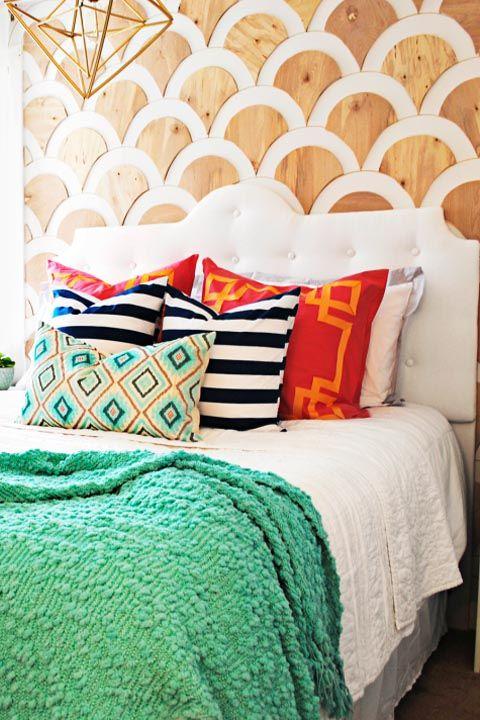 Scalloped Wall   DIY Home Decor