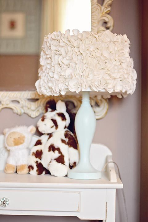 Ruffle Lamp - DIY Home Decor