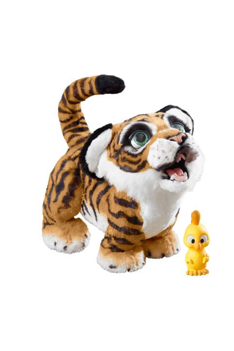 "<p>$130 </p><p><a href=""https://www.amazon.com/FurReal-Roarin-Tyler-Playful-Tiger/dp/B01N39LX3X?tag=goodhousekeeping_auto-append-20"" target=""_blank"" class=""slide-buy--button"" data-tracking-id=""recirc-text-link"">BUY NOW</a> </p><p>This cuddly friend responds to sound and touch — he'll roar when you roar and move when you pet him. Kids couldn't get over how  fluffy and interactive this little guy was, and our engineers were wowed by his 100-plus sounds and animations. (Ages 4+)</p>"