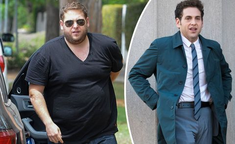 Jonah Hill pictured in 2014, and 2017, weightloss before and after