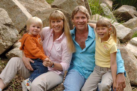 Steve Irwin, Terri Irwin, Bindi Irwin, and Robert Irwin