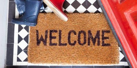 Mat, Font, Door mat, Floor, Birthday cake, Cake, Flag, Flooring,