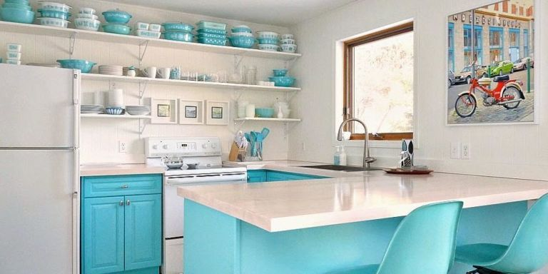 kitchen open shelving why open wall shelving works for kitchens - Open Kitchen Cabinets