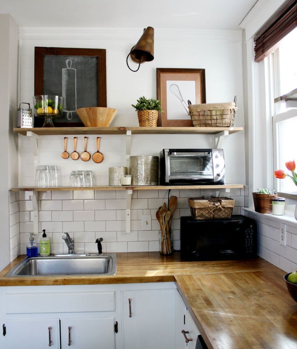 kitchen open shelving why open wall shelving works for kitchens rh goodhousekeeping com open shelving in kitchen pros and cons open shelving in kitchen how to install