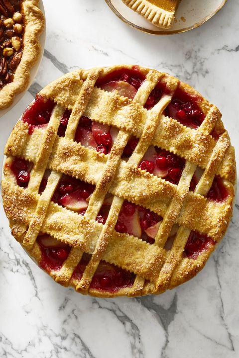 Cranberry-Pear Lattice Pie - Christmas Desserts