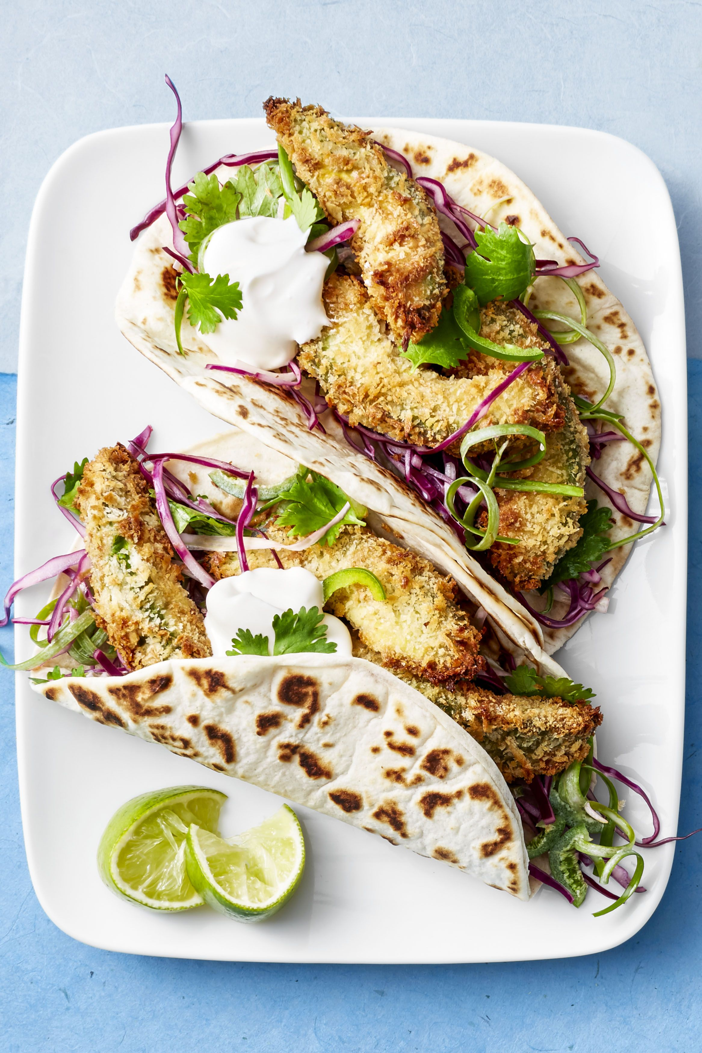 Fried avocado tacos - Cinco de Mayo Recipes