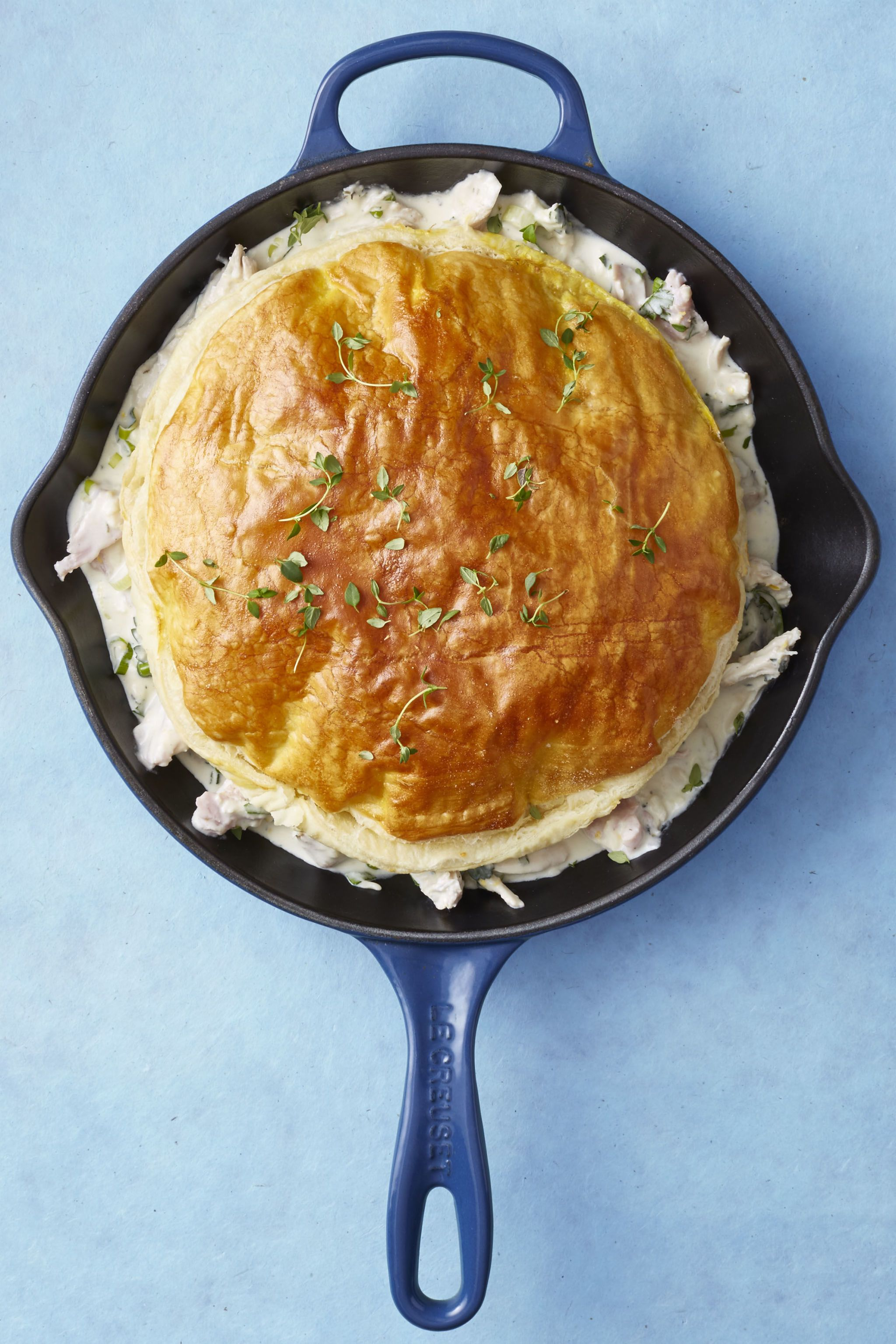 How to make turkey pot pie with puff pastry