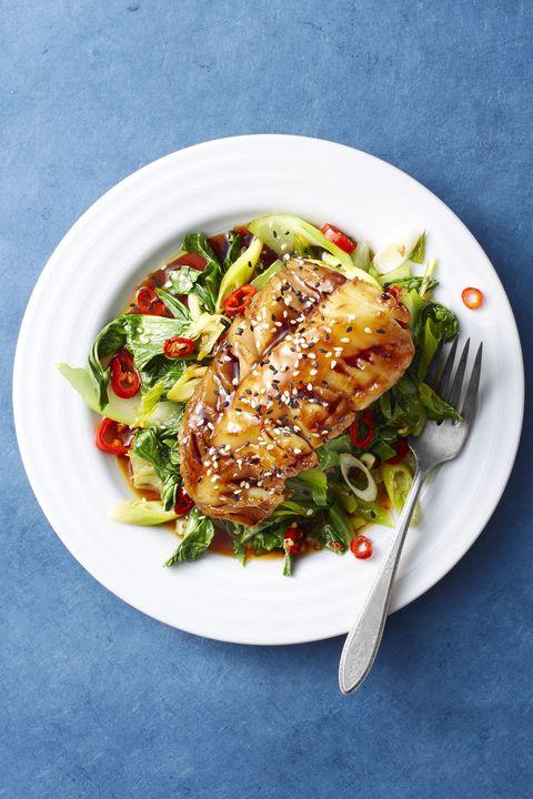 Low Calorie MealsSoy-Glazed Cod and Bok Choy