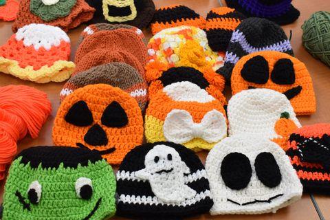 Nurses Knit Adorable Halloween Hats For Newborns Adorable Handmade
