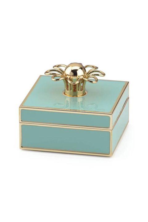 Aqua, Turquoise, Fashion accessory, Box, Turquoise, Jewellery, Rectangle,