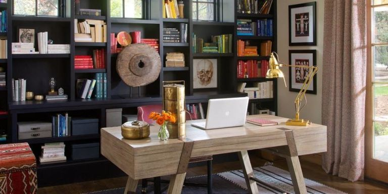 Delightful 10 Best Home Office Decorating Ideas   Decor And Organization For Home  Offices And Studies