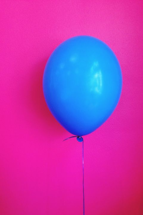 Balloon, Pink, Blue, Turquoise, Party supply, Magenta, Sky, Ball, Colorfulness, Toy,