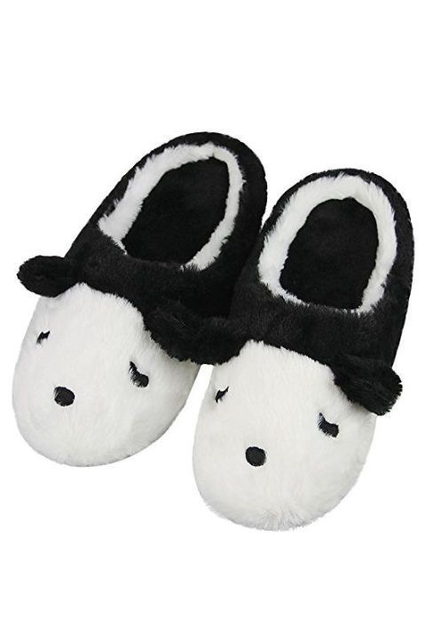 amazon fakeface fleece slippers