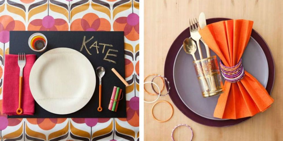 Give thanks in style with gorgeous place settings that won\u0027t break the budget. Homemade and store-bought these ideas are all guaranteed to impress guests. & 11 DIY Thanksgiving Table Setting Ideas - Table Decor and Place ...