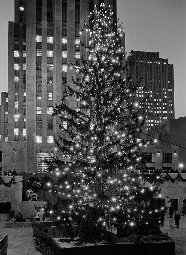 Gray Christmas Tree.Rockefeller Center Christmas Tree Photos Through The Years
