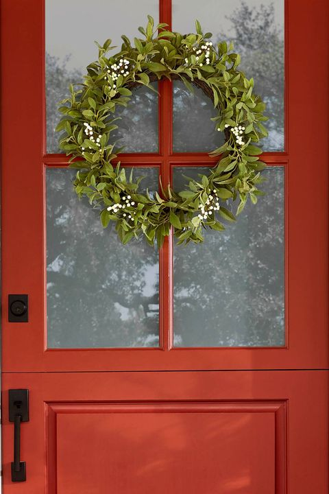 artificial lamb ear and white berry wreath hearth & hand with magnolia