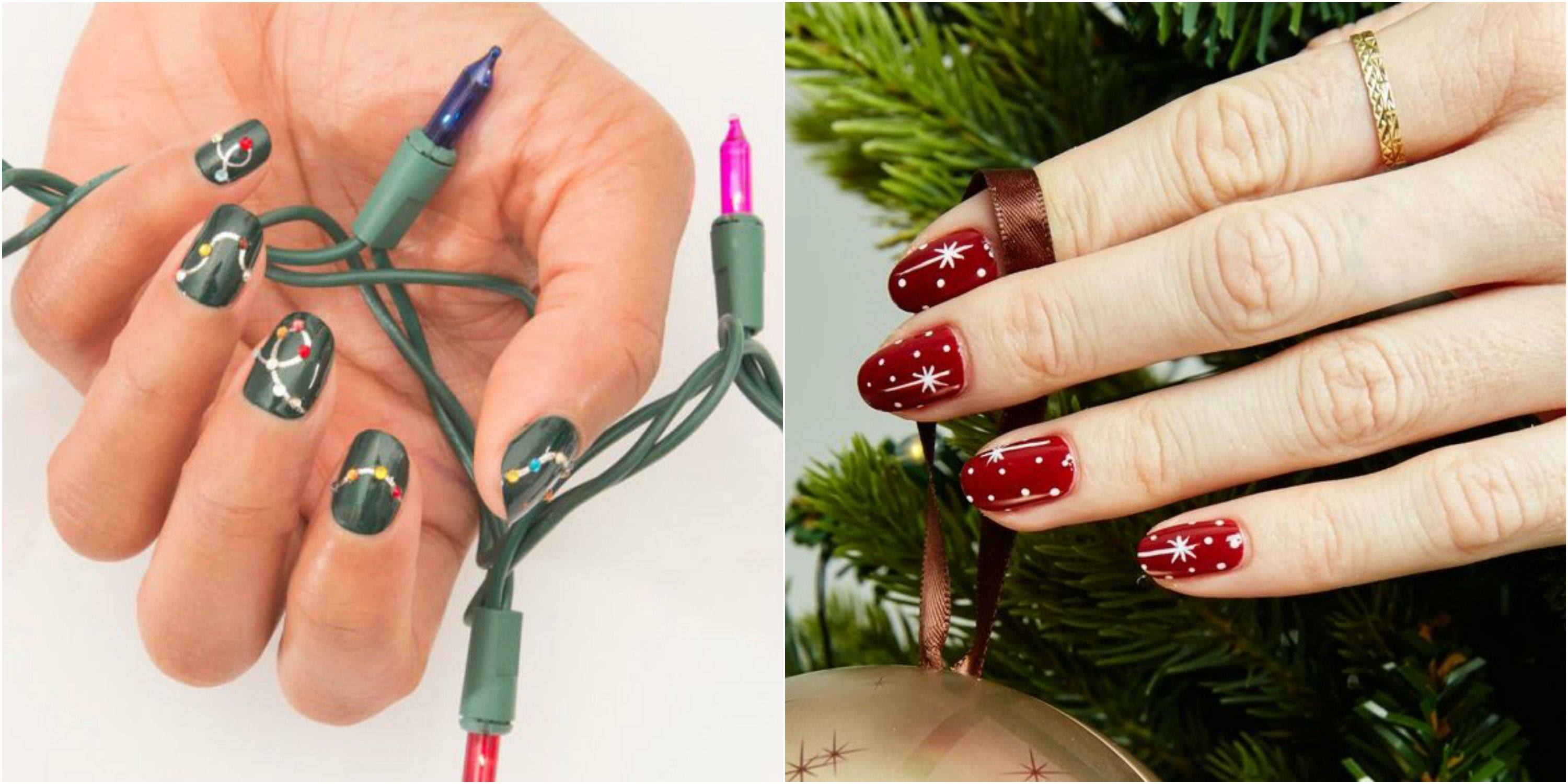 32 festive christmas nail art ideas easy designs for holiday nails solutioingenieria Image collections