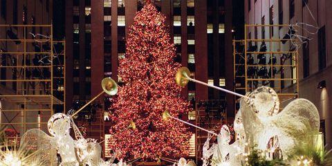Christmas tree, Tree, Christmas, Christmas decoration, Christmas ornament, Landmark, Christmas lights, Lighting, Christmas eve, Architecture,